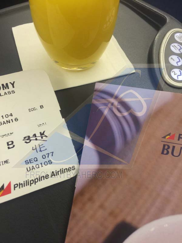 Free seat upgrade onboard Philippine Airlines
