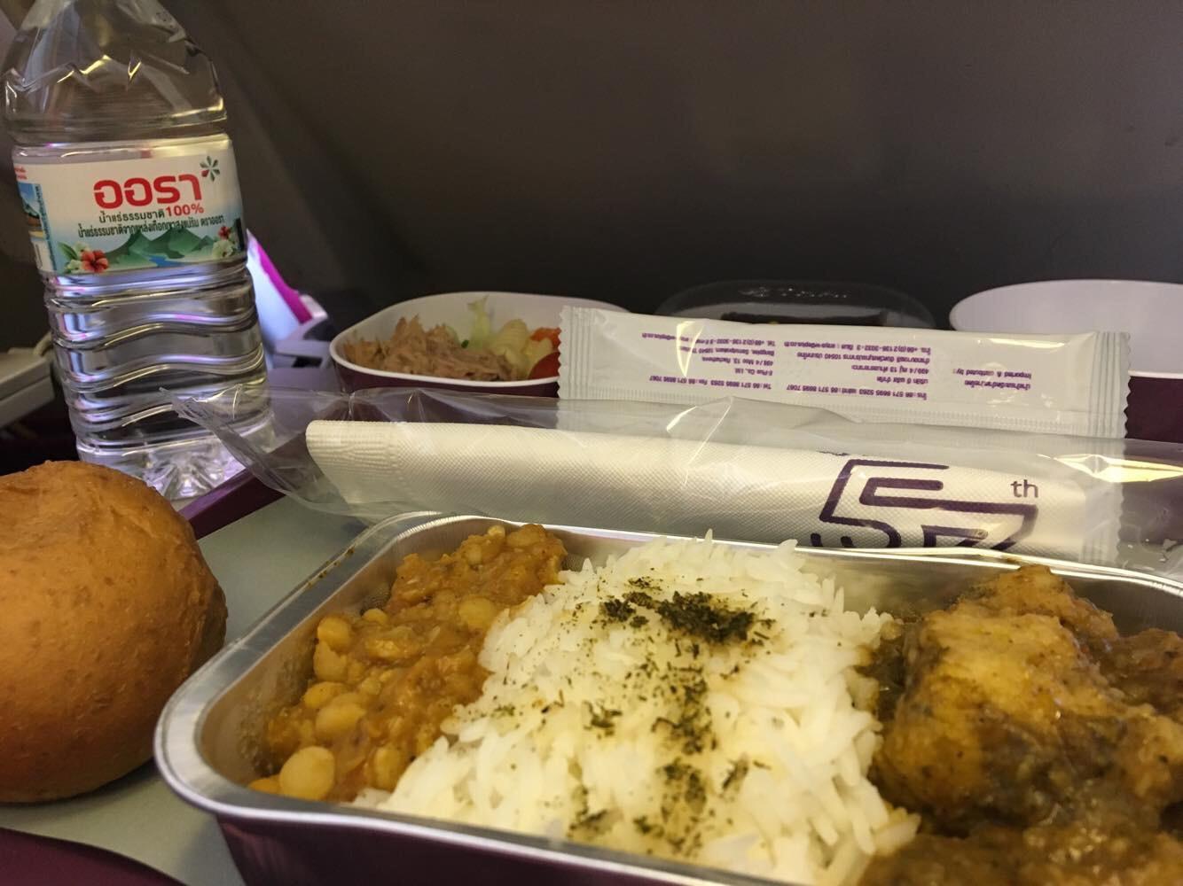 Flight review bkk ktm onboard thai airways for Air thai cuisine