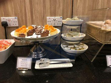 Desserts at SATS lounge T1